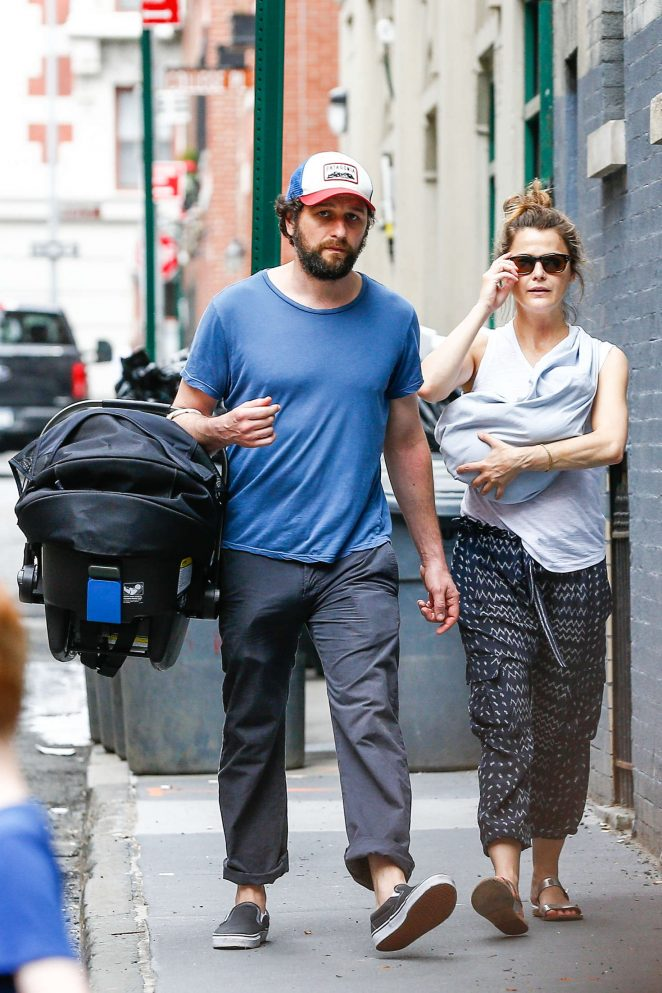Keri Russell with her new baby boy -13