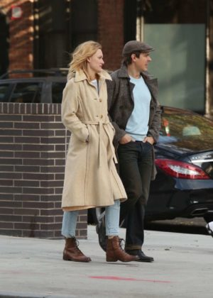 Kerry Bishe in Long Coat out in New York