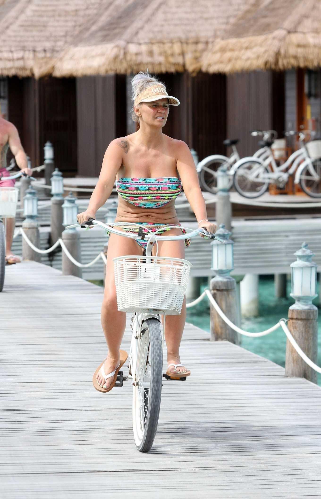 Kerry Katona in Bikini - Bike Ride of Ayada Maldives