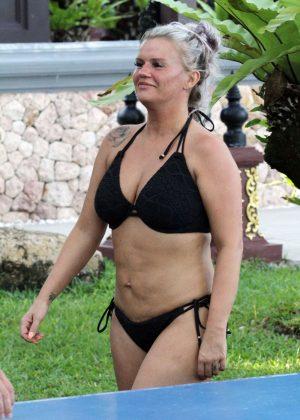 Kerry Katona in Black Bikini in Thailand