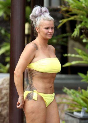 Kerry Katona in Yellow Bikini in Thailand