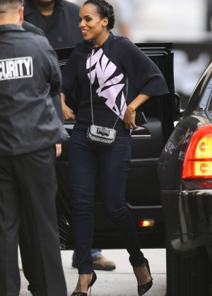 Kerry Washington - Arrives at Jimmy Kimmel Live in Hollywood
