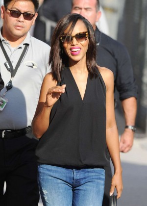 Kerry Washington - Arriving at 'Jimmy Kimmel Live' in Hollywood