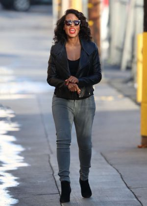 Kerry Washington - Arriving at Jimmy Kimmel Live! in LA