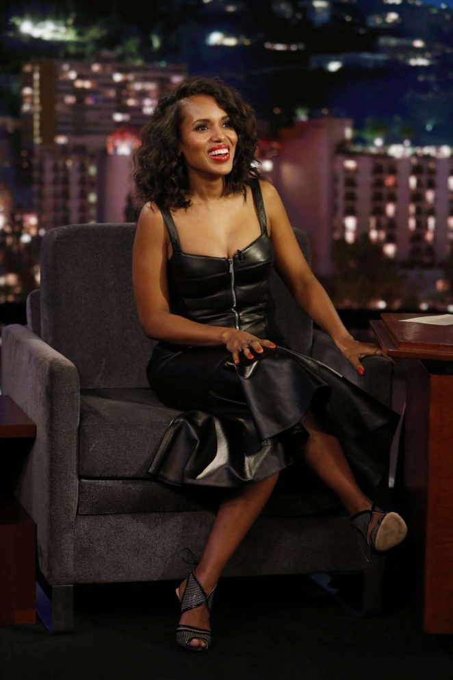 Kerry Washington at Jimmy Kimmel Live! in Los Angeles