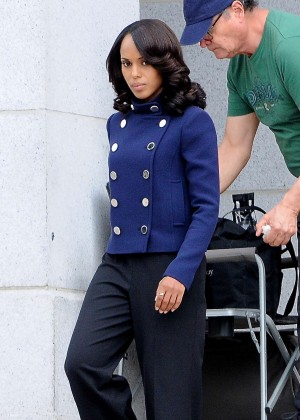 Kerry Washington - Filming 'Scandal' in LA