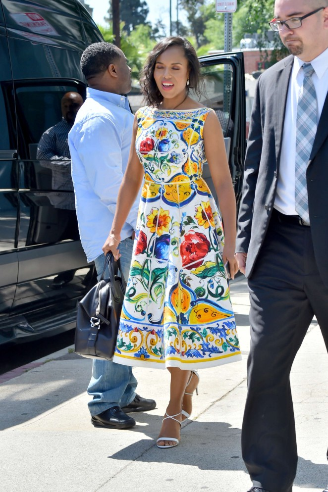 Kerry Washington in floral dress -09