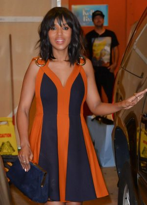 Kerry Washington - Leaving the Live With Kelly show in New York