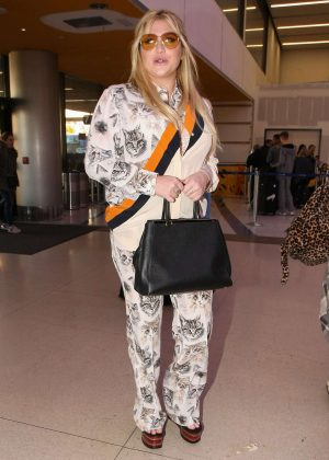 Kesha Arriving at LAX Airport in Los Angeles