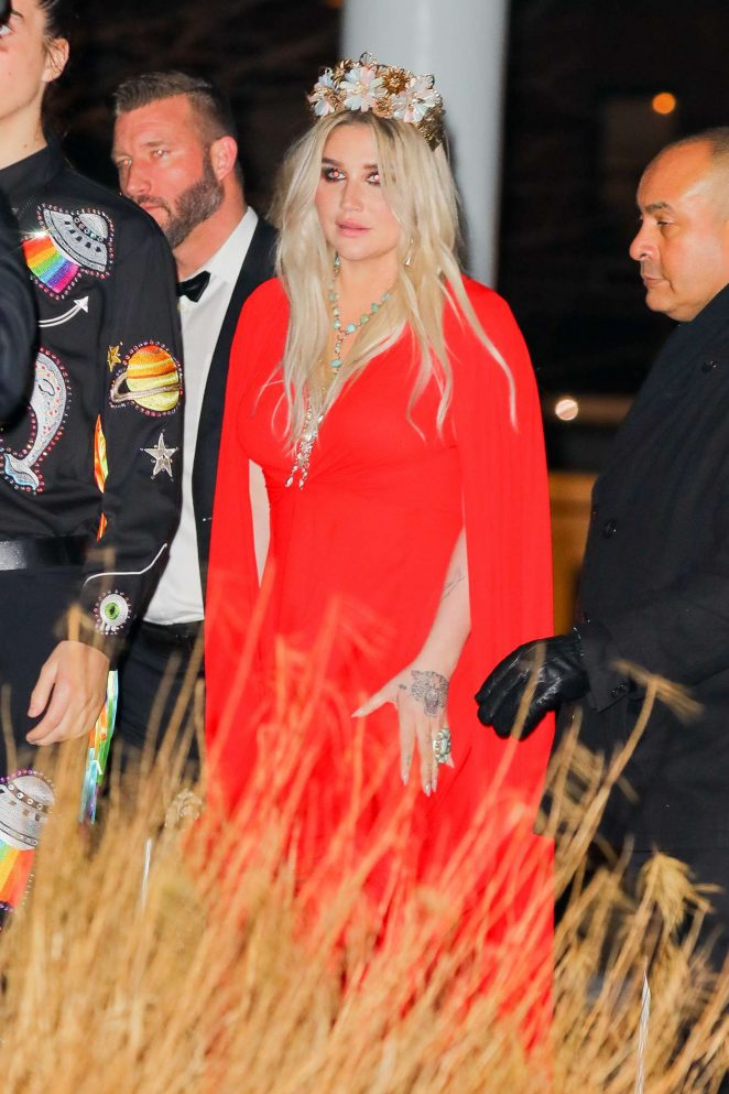 Kesha - Arriving at the Grammys 2018 after party in New York City