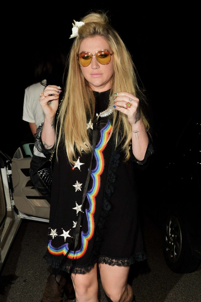 Kesha at CAA Pre-Grammy Awards party in West Hollywood