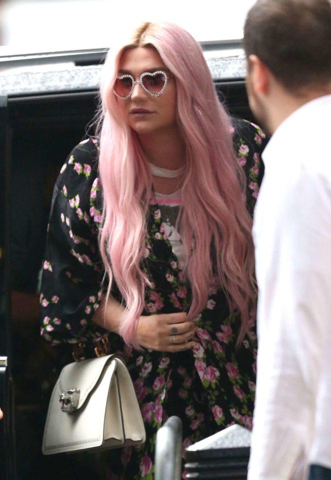 Kesha at the BBC Studios in London