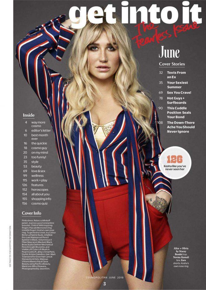 Kesha - Cosmopolitan US Magazine (June 2018)