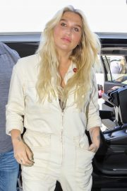 Kesha in Jumsuit - Arrives at LAX Airport in LA