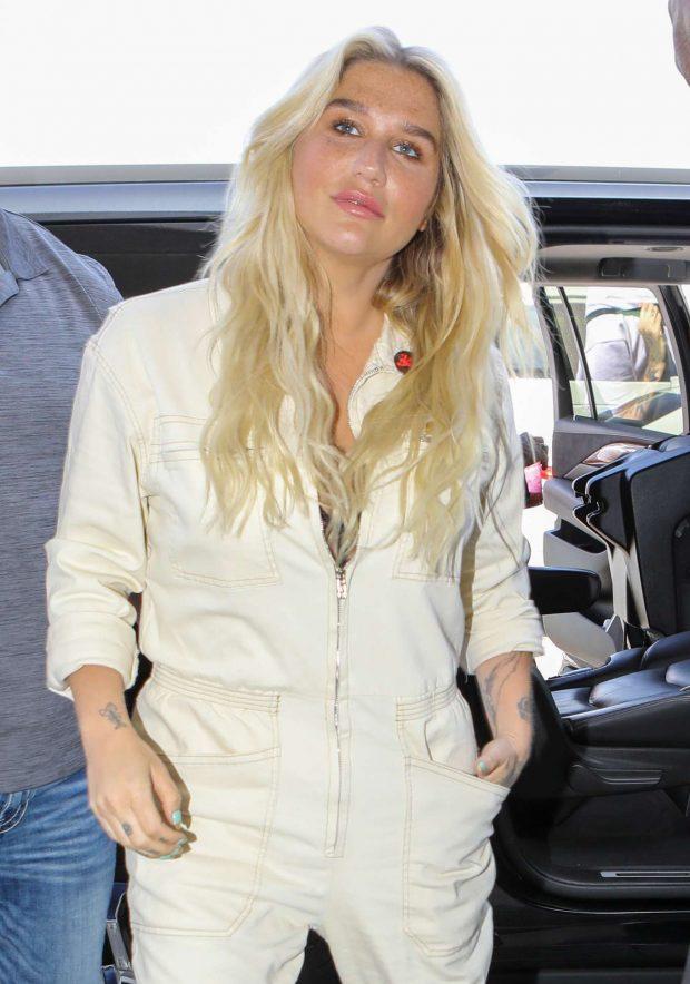 Kesha in Jumsuit - Arrives at LAX Airport in LA