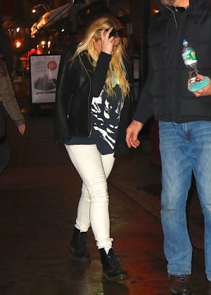Kesha in White Jeans out in New York