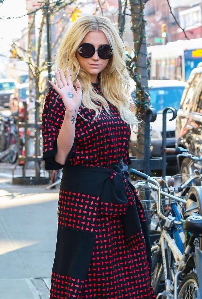Kesha – Leaving her hotel in NYC -12