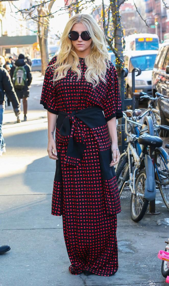 Kesha – Leaving her hotel in NYC -13