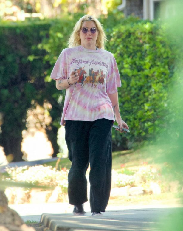 Kesha - Out for a stroll in West Hollywood