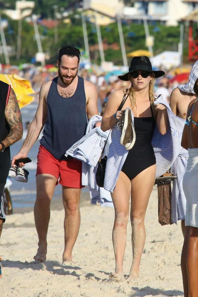 Kesha in Black Swimsuit -04