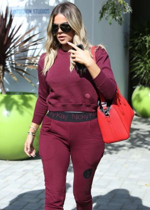 Khloe Kardashian after some family business in Westlake