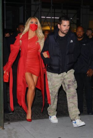 Khloe Kardashian - All in red arrives at the SNL after-party in New York City