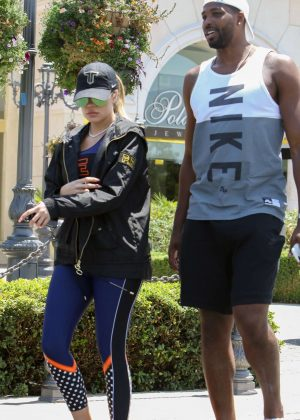 Khloe Kardashian and boyfriend out in Calabasas