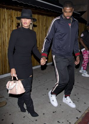 Khloe Kardashian and her boyfriend Triston Thompson at 'The Nice Guy' bar in West Hollywood