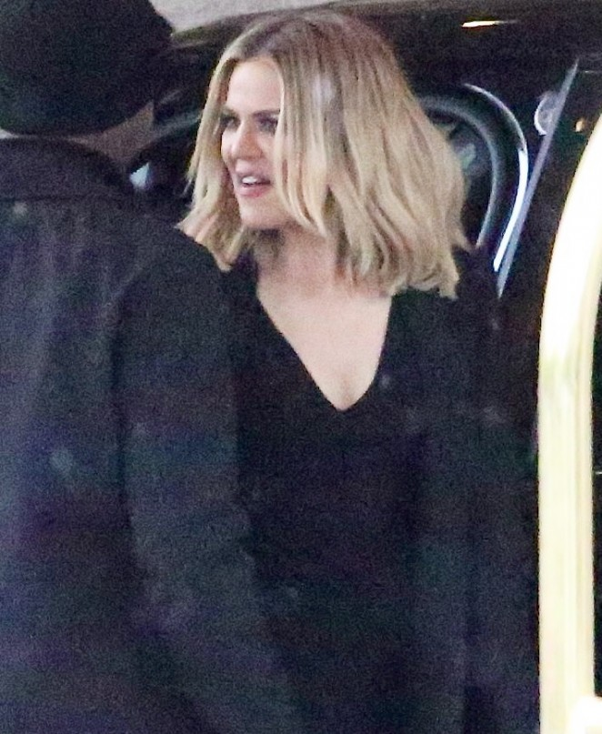 Khloe Kardashian - Arrives at The Langham in Pasadena