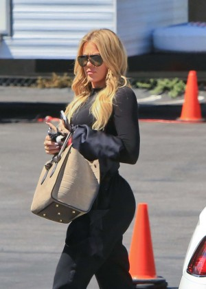 Khloe Kardashian - Arriving at a Studio in LA