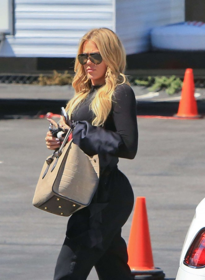 Khloe Kardashian - Arriving at a Studio in LA