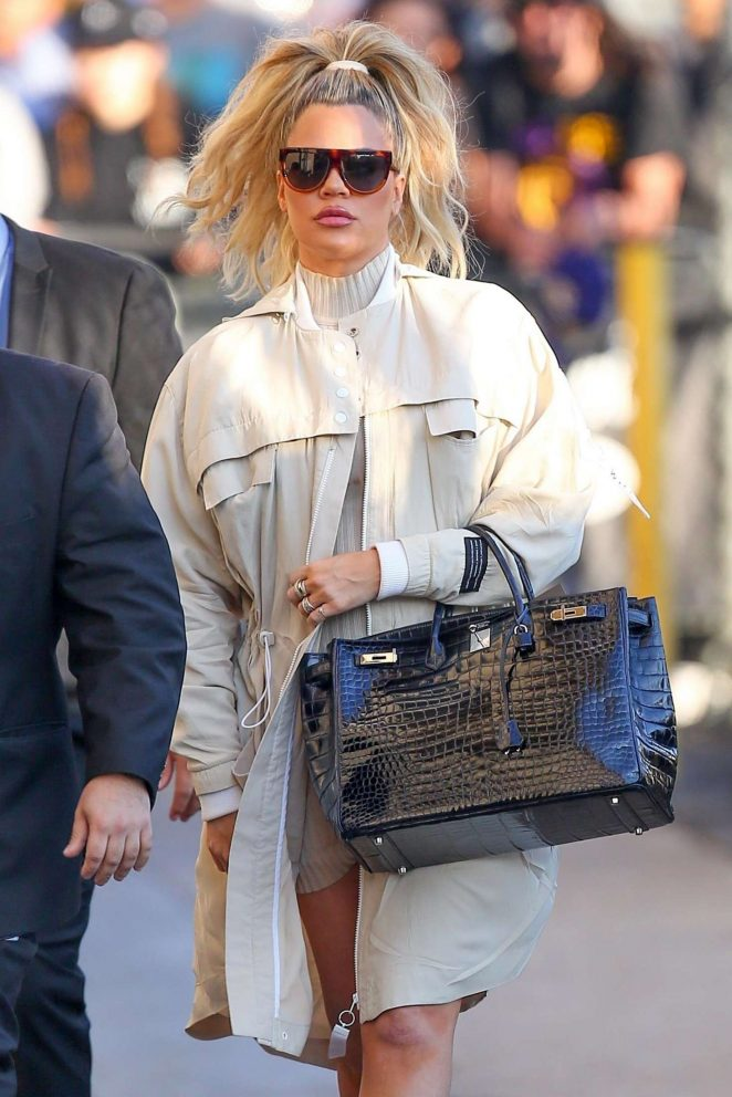 Khloe Kardashian - Arriving at Jimmy Kimmel Live! in LA