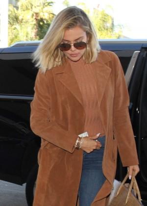 Khloe Kardashian - Arriving at LAX Airport in LA