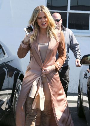 Khloe Kardashian at a studio in Van Nuys