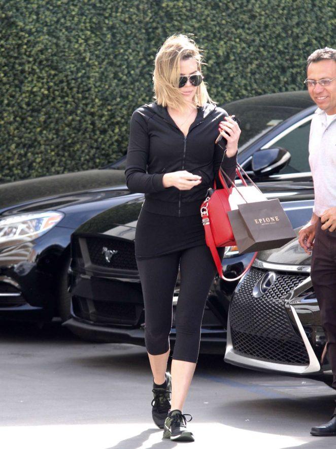 Khloe Kardashian at Epione in Los Angeles