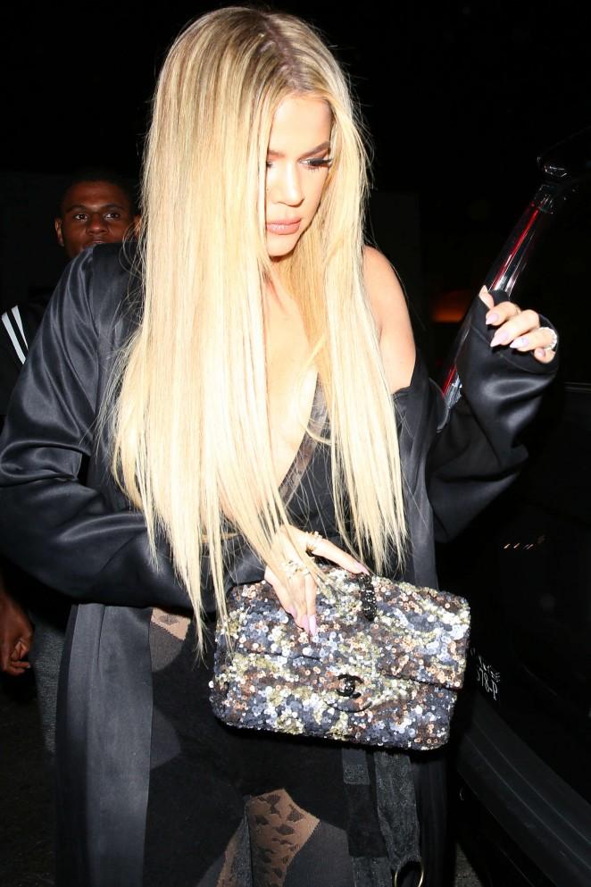 Khloe Kardashian at Gigi's 21st Birthday Party in West Hollywood
