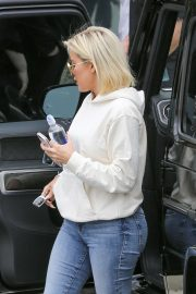 Khloe Kardashian at Kanye West's Sunday church services in Calabasas