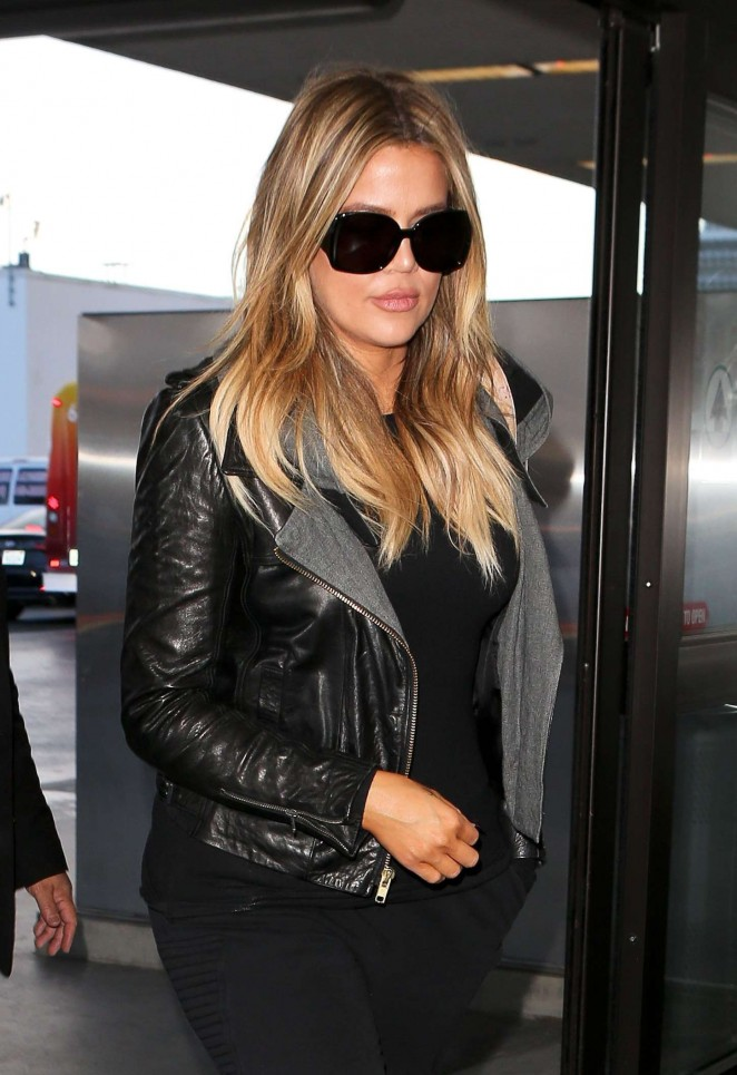 Khloe Kardashian at LAX Aiport in Los Angeles