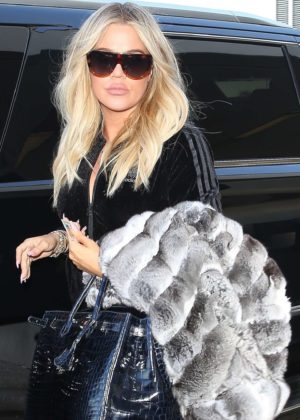 Khloe Kardashian at LAX Airport in Los Angeles