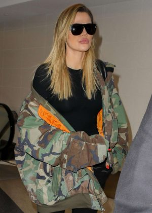 Khloe Kardashian at Los Angeles International Airport in LA