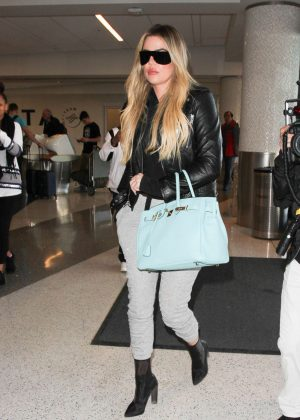 Khloe Kardashian at Los Angeles International Airport