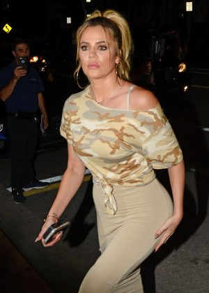 Khloe Kardashian at Prime One Twelve Restaurant in Miami