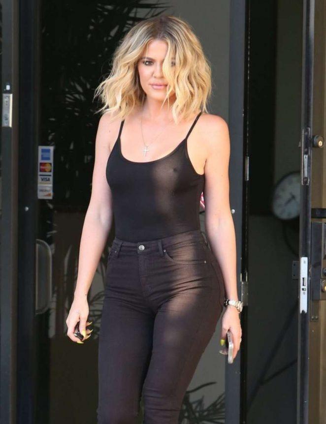 Khloe Kardashian in Black Out in LA