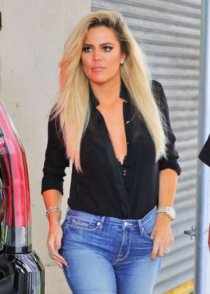 Khloe Kardashian in Skinny Jeans out in New York