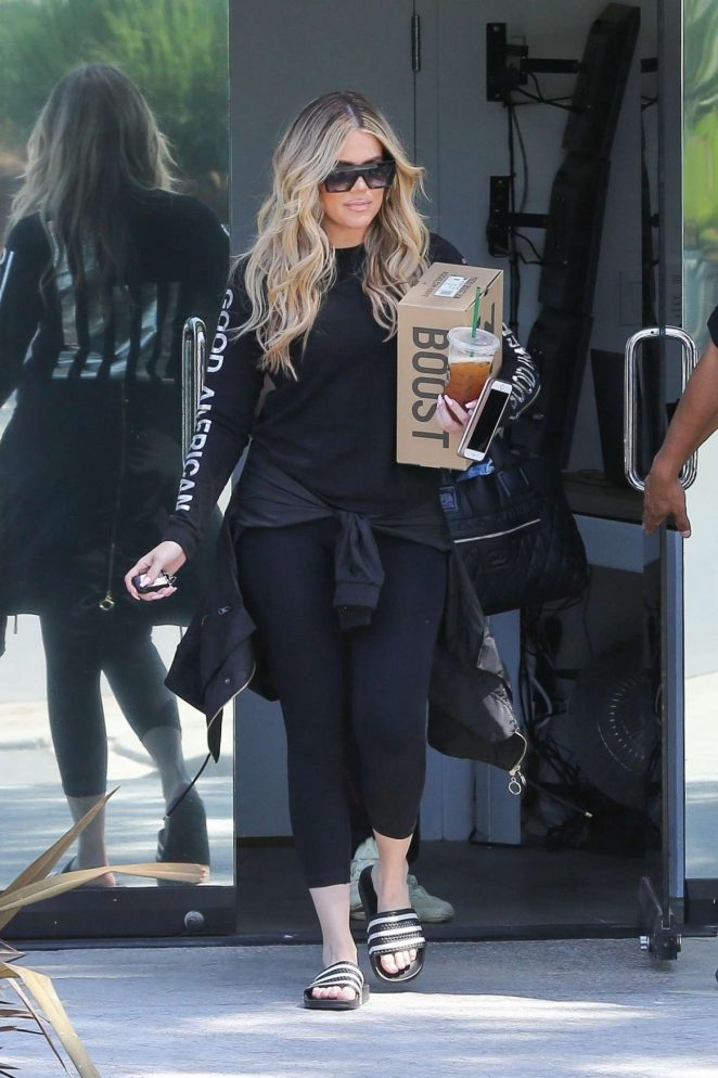 Khloe Kardashian in Spandex - Out in Calabasas