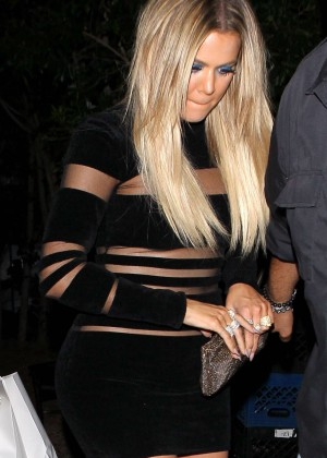 Khloe Kardashian - Kylie's 18th Birthday in West Hollywood