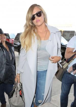 Khloe Kardashian - LAX Airport in LA