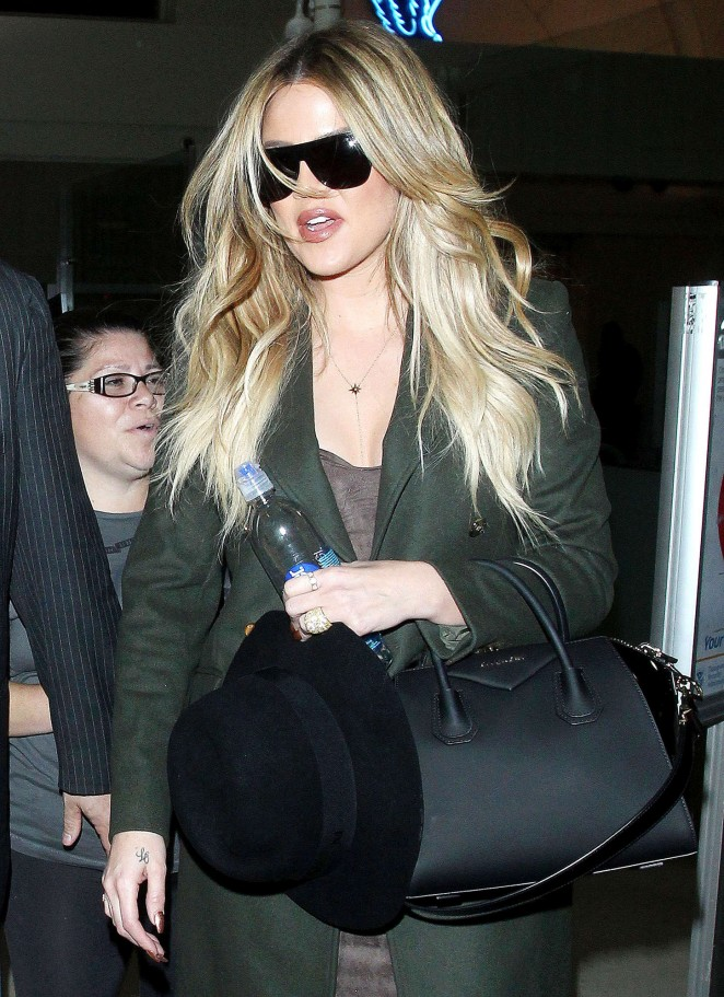 Khloe Kardashian - LAX airport in Los Angeles