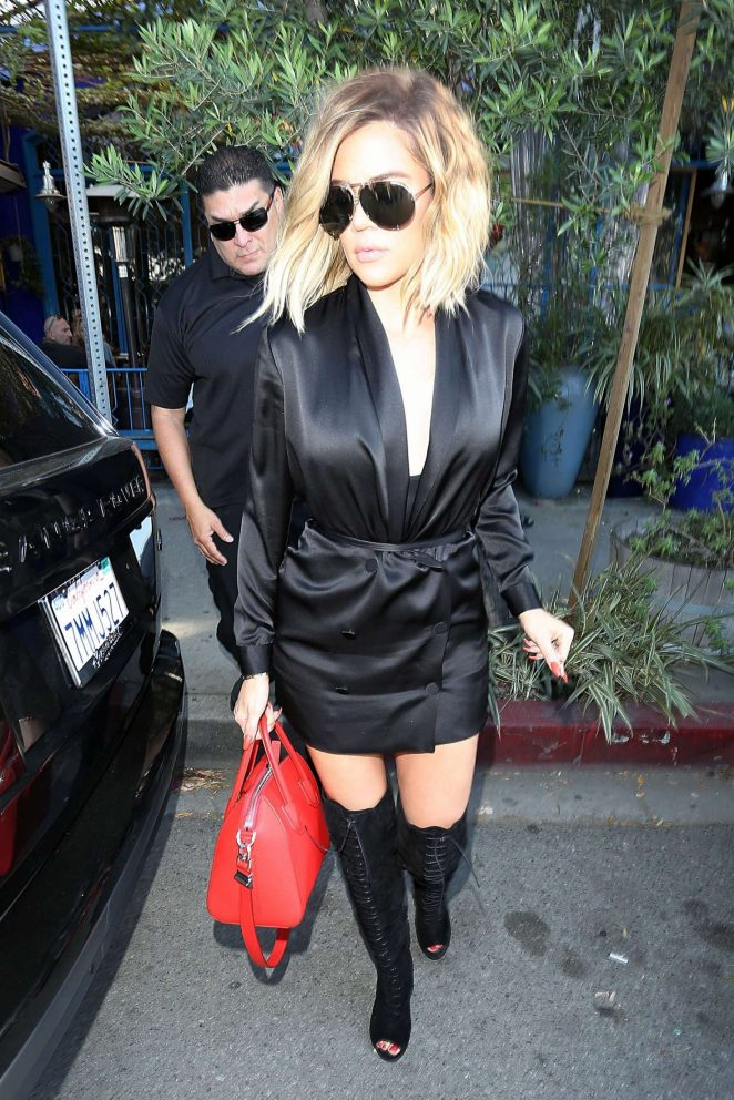Khloe Kardashian Leaves The Little Next Door Restaurant in LA