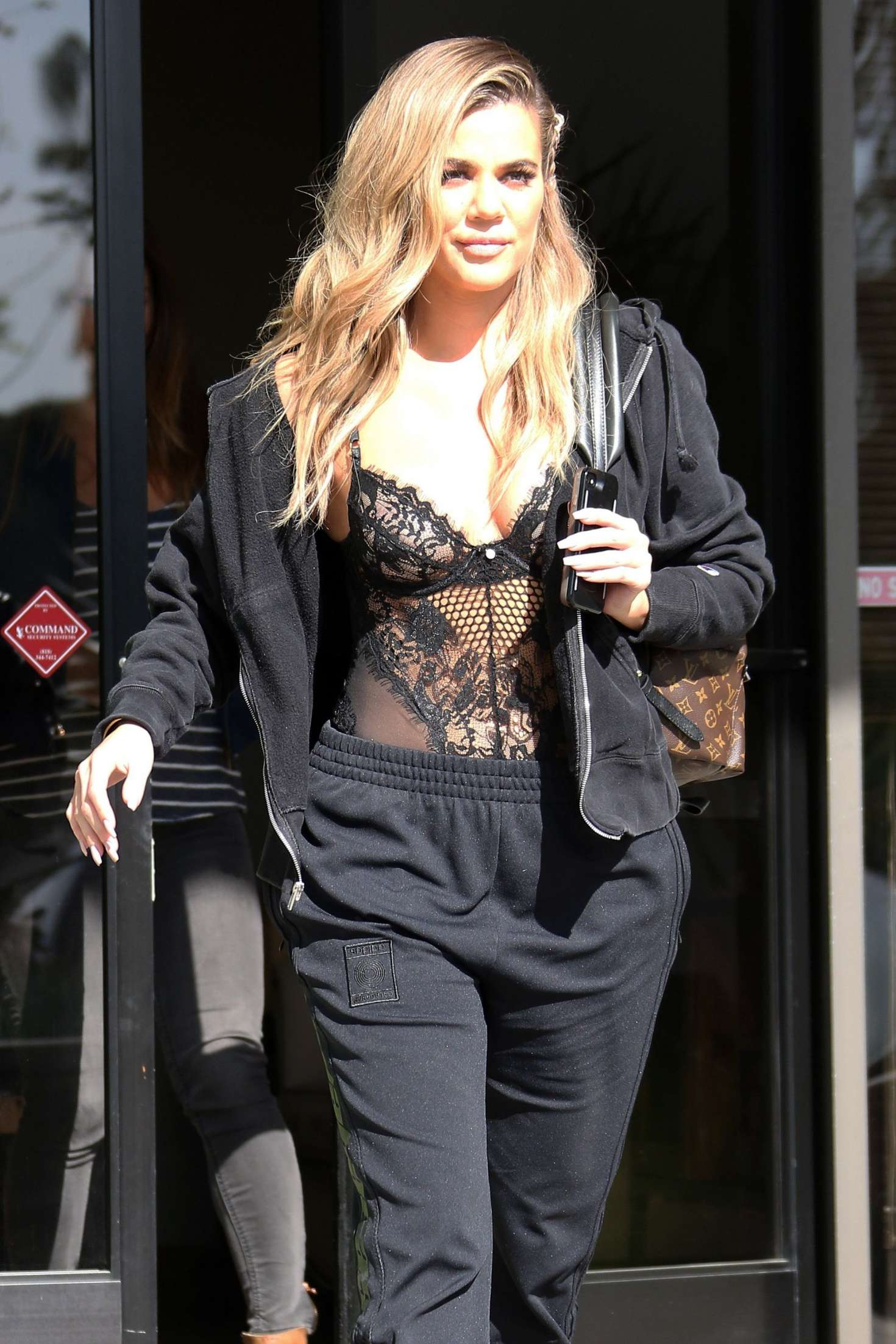 Khloe Kardashian Leaves the studio in LA